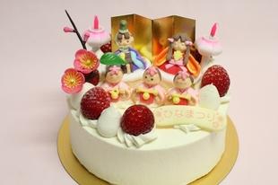 おひなまつりデコレーションケーキ