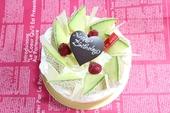 夏のスペシャルメロンデコレーションケーキ