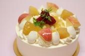 有機りんごと紅茶のデコレーションケーキ